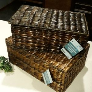 Brand NEW 2 Storage Basket Nesting Handcrafted